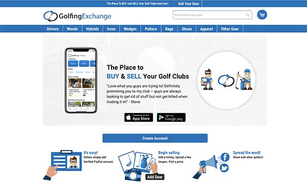 Golfing-Exchange.com Marketplace for Golfers to Buy and Sell New and Used Gear